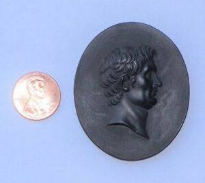 19th C Grand Tour Cameo Pompey The Great Classical Intaglio Portrait Pompeius