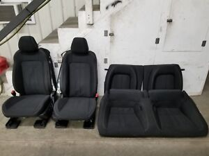 2018 Ford Mustang Gt Black Cloth Seats Front back Oem