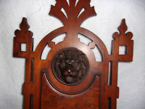 Stunning Antique Hand Carved Lion S Head Victorian Wall Shelf 25 Tall