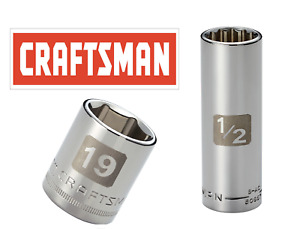 Craftsman Easy Read Socket 1 2 Or 3 8 Drive Shallow Or Deep Metric Mm sae Inch