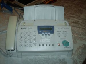 Sharp Ux 460 Plain Paper Fax With Tad Works Great