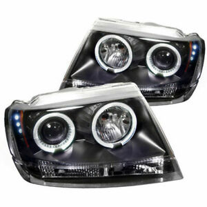 Spyder Led Halo Projector Headlights For 99 04 Jeep Grand Cherokee 5011145