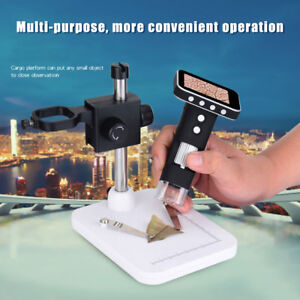 Portable Usb Digital Mobile Microscope Lcd Screen Metal Stand Handheld Magnifier