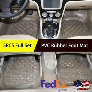 Pvc Rubber Foot Mat Floor Pad Carpet Front Rear Universal Auto Mat Waterproof