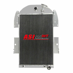 4 Row Aluminum Cooling Radiator For 1934 1936 Chevy Pickup Master Ea ed A body