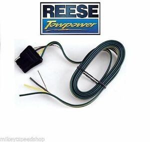 Reese 4 Way Flat 60 Trailer Wiring Harness Vehicle End Connector Towing Adapter