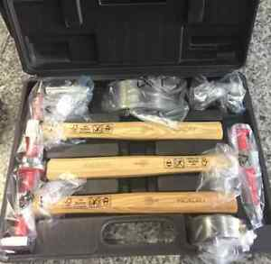 Conso Body Fender 7 Piece Tool Set Hammer Dolly Auto Body Collision Repair