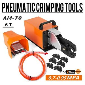 Am 70 Pneumatic Crimping Machine 6t U shape Terminal Hexagonal Ce Certification
