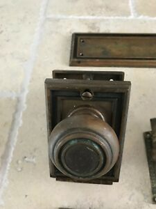 Antique Russwin Brass Door Knob With Lock