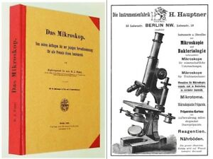 Microscope Book Petri Of 1896 Very Nice