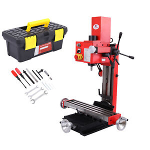 Mini Milling Drilling Machine W Gear Drive Variable Speed 550w 90 Verticaly
