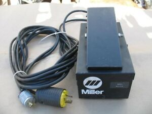 Miller Rfc 23a Remote Control Tig Pedal New Other with Owner s Manual