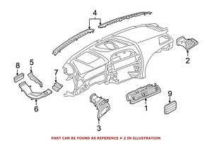 For Bmw Genuine Dashboard Air Vent Right 64229197485