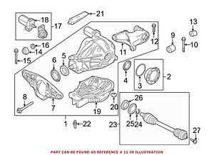 For Bmw Genuine Differential Housing Support Rear Rearward 33172284039
