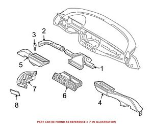 For Bmw Genuine Dashboard Air Vent Left 64226945395