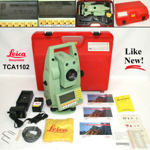 Leica Tca1102 Professional High end Surveying Instrument Kit Tps1100 Series