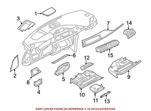 For Bmw Genuine Dashboard Air Vent Front Center 64229218552