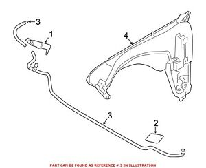 For Bmw Genuine Headlight Washer Hose Front 61677213283