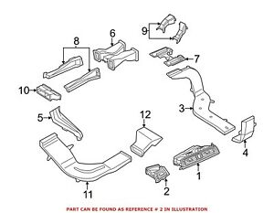 For Bmw Genuine Dashboard Air Vent Right Outer 64229166884