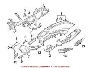 For Bmw Genuine Dashboard Air Vent Right Outer 64229320892