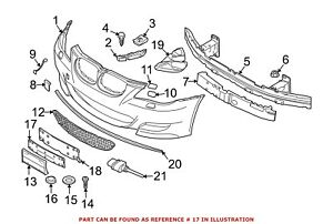 For Bmw Genuine License Plate Frame Front 51117899474