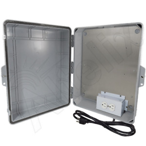 Altelix 17x14x6 Polycarbonate Weatherproof Nema Box Enclosure With 120v Power