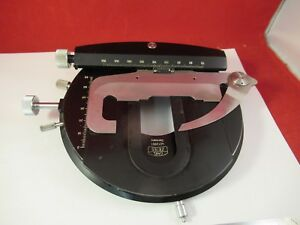 Zeiss Germany Stage Table Rotable Polarizer Pol Microscope Part Optics