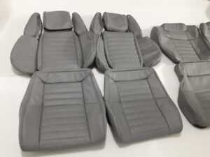 1981 1986 5 Toyota Supra Mk2 Mkii Replacement Leather Seat Covers Light Grey