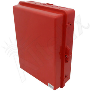Altelix 17x14x6 Polycarbonate Abs Weatherproof Red Nema Box Outdoor Enclosure