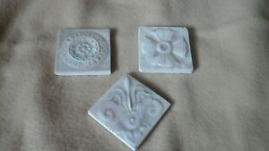 3 Victorian Old Bridge 3 X3 Ceramic Art Tiles Iris Botanical Floral Iridescent