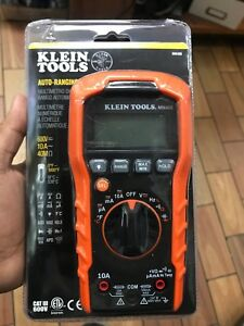 Klein Tools Mm400 Auto Ranging Digital Multimeter 600v 10a 40m Bra fkt004367
