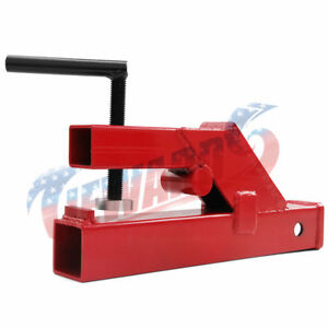 Clamp On Trailer Hitch 2 Receiver Tractor Bucket Red
