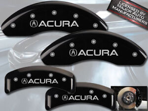2001 2003 Acura Cl Type S Base Front Rear Black Mgp Brake Disc Caliper Covers
