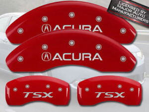 2004 2008 Acura Tsx Base Front Rear Red Mgp Brake Disc Caliper Covers 4pc