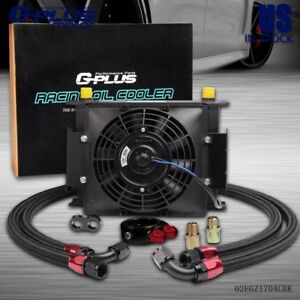 Gplus Universal 30 Row An10 Engine Transmission Oil Cooler electric 7 Fan Kit