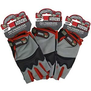 Grease Safety Work Gloves Monkey Pro Fingerless All Purpose Work Gloves And 3