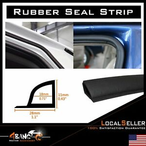 Rubber Seal Door Edge Decorate Guard Weather Stripping Black Soundproof 8ft