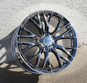 Chrome C7 z06 Style Corvette Wheels Fits 2006 2013 Z06 gs 18x9 5 19x12