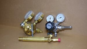 Welding Regulators And Torch Head Harris