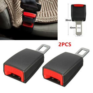 Universal Car Safety Seat Belt Buckle Extension Extender Clip Alarm Stopper Pair