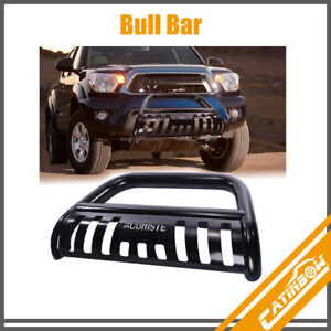 Black Front Bull Bar Push Bumper Grille Guard For 2005 2015 Toyota Tacoma