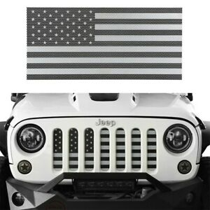 Steel Front American Flag Mesh Grille Inserts For Jeep Wrangler Jk 2007 2018