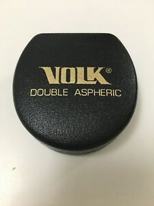 Volk 90d Yellow Tinted Lens Double Aspheric Perfect Condition Made In Usa