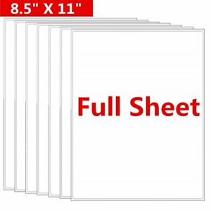 8 5x11 Full Sheet Shipping Address Labels Self Adhesive For Laer Injket Printer