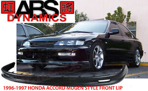 Mugen Style Front Lip For 1996 97 Honda Accord 2 4dr Unpainted Polyproplyene