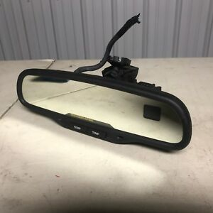 2002 Chevy Tahoe Rear View Mirror W Compass Temp Auto Dimming