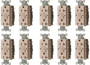 Lot Of 10 Hubbell Wiring Rocker 3 way Switch Iluminated Ivory