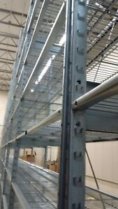 Lozier Type S Galvanized Steel Shelving Unit 40 Feet 10 Sections