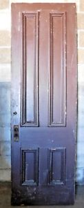 Antique Victorian Style 8 Tall Entry Door C 1880 Fir Architectural Salvage