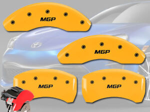 2011 2016 Scion Tc Base Front Rear Yellow Mgp Brake Disc Caliper Covers 4p Set